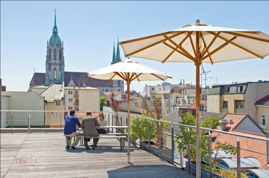 Dachterrasse allynet Coworking München