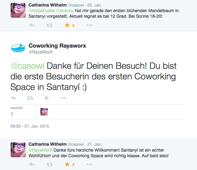 Screenshot Tweets casowi und Rayaworx