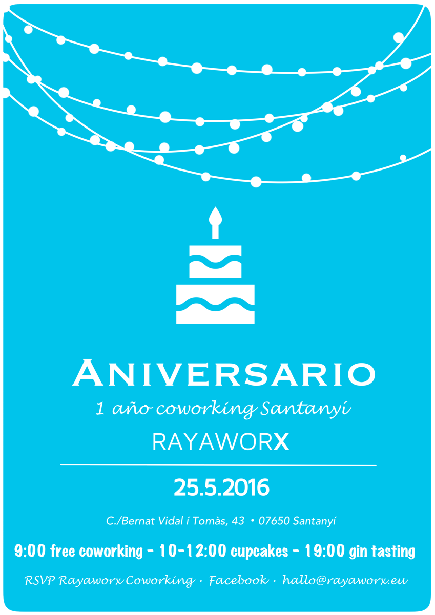 aniversario rayaworx santanyí mallorca coworking