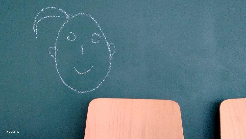 coworker chalkboard tafelbild