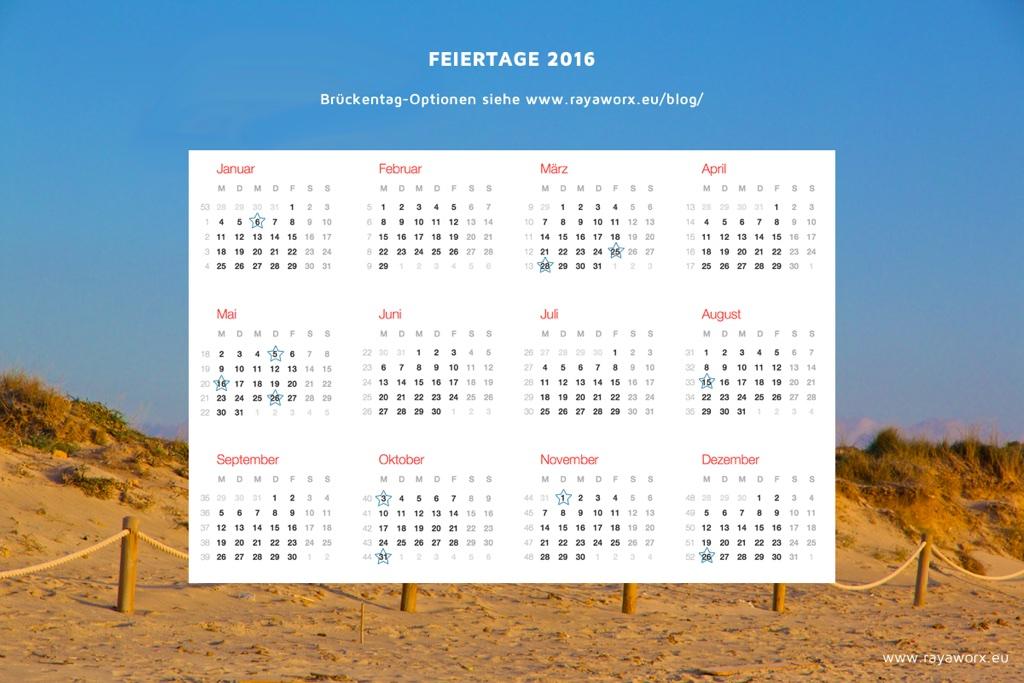 feiertage 2016 deutschland