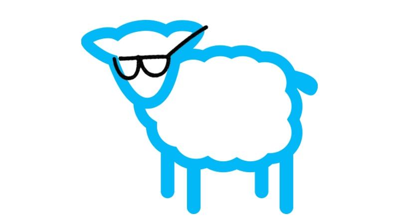 Schaf Nerdbrille