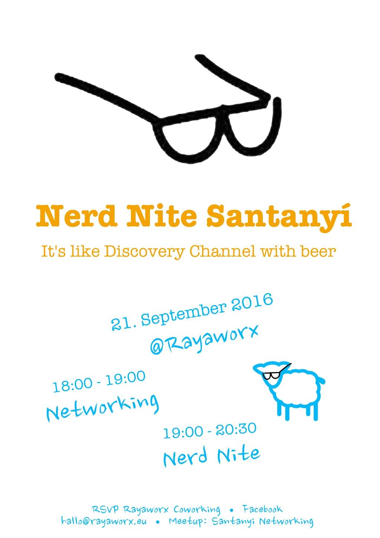 Nerd Nite Santanyí Einladung