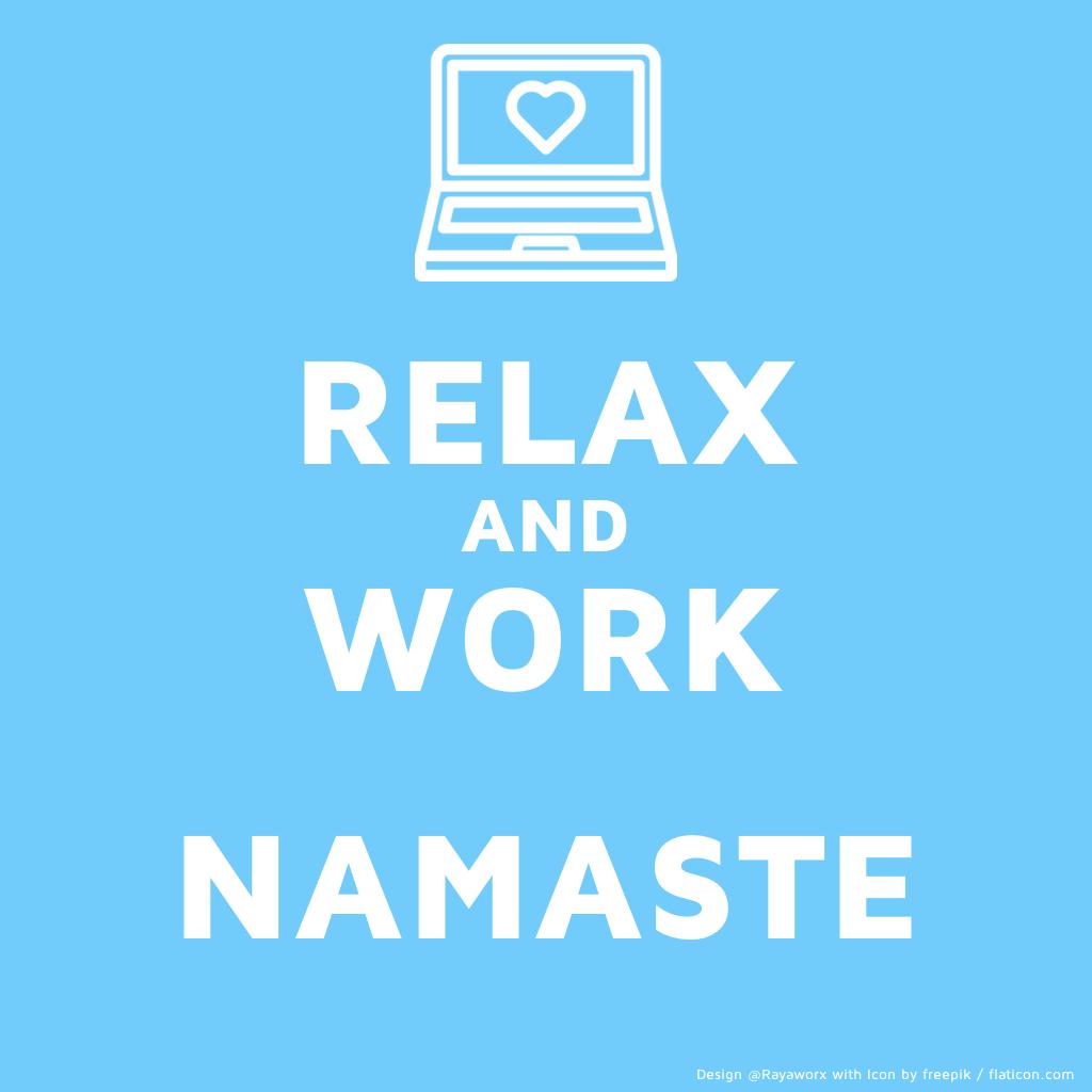 relax work yoga laptop asana