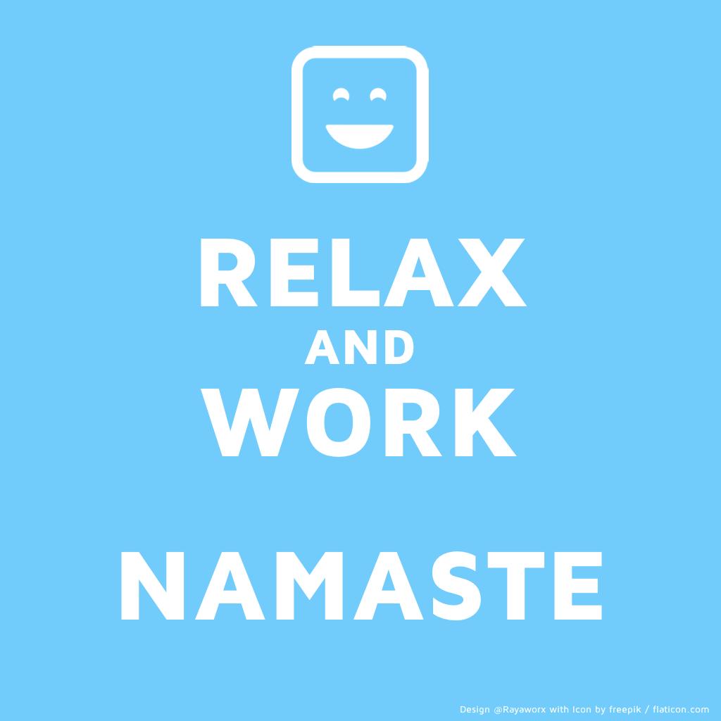 relax work yoga laptop smile