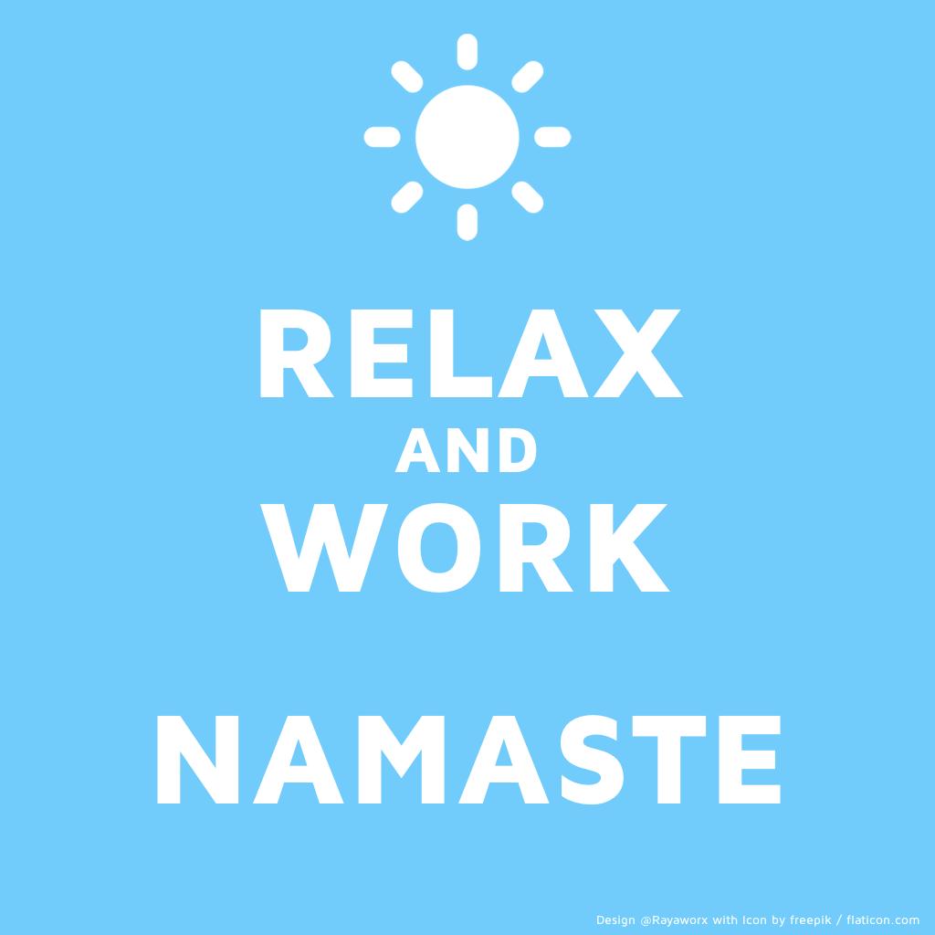 relax work yoga laptop sun