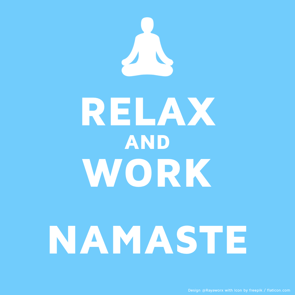 relax work yoga laptop