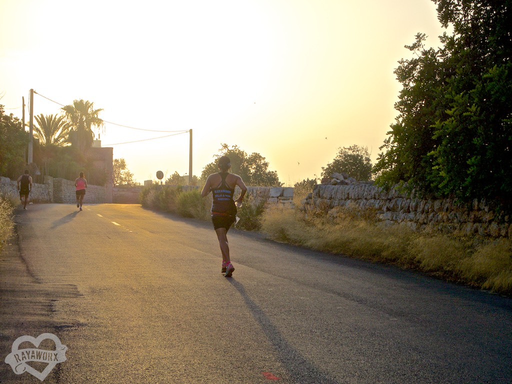 abendstimmung letzter Kilometer Santanyí Lauf
