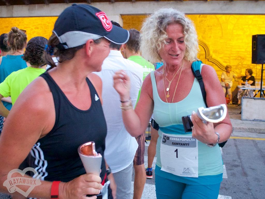 Santanyí Lauf Pokale für die Ladies
