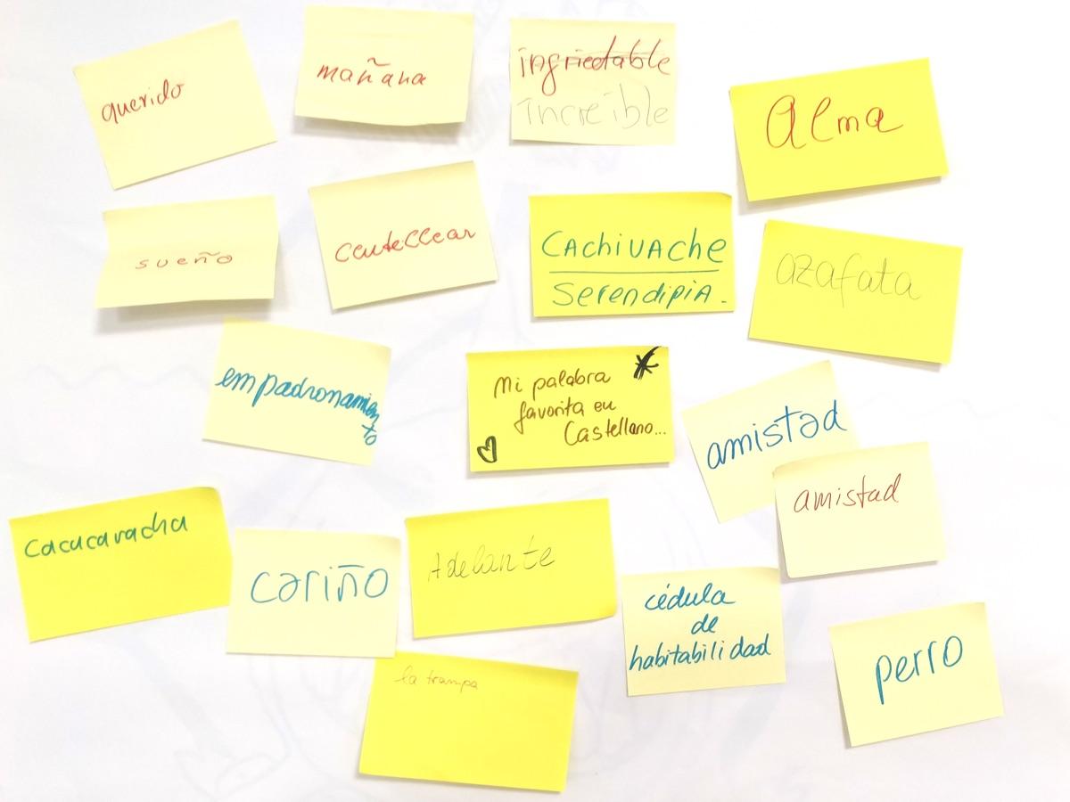Castellano palabras favoritas grupo hablemos
