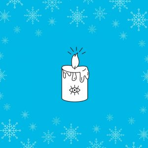 Illustration advent poetry first candle