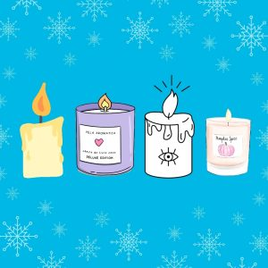 Illustration advent poetry four candles